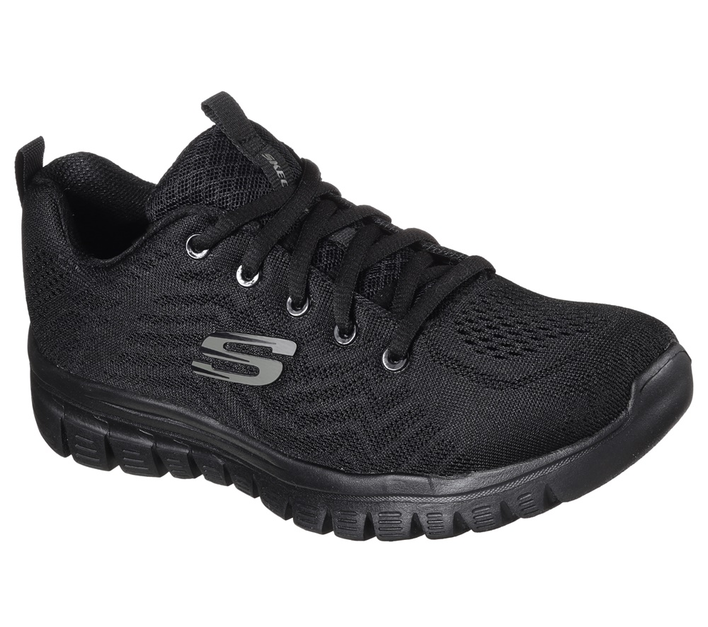 Zapatillas Skechers modelo Graceful Get Connected en color negro para mujer-e