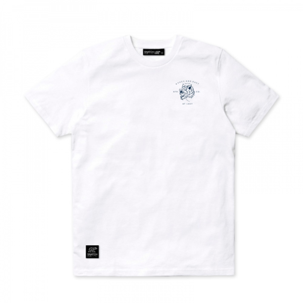 Camiseta Snatch and Clash modelo Ashes and Dust en color blanco-c