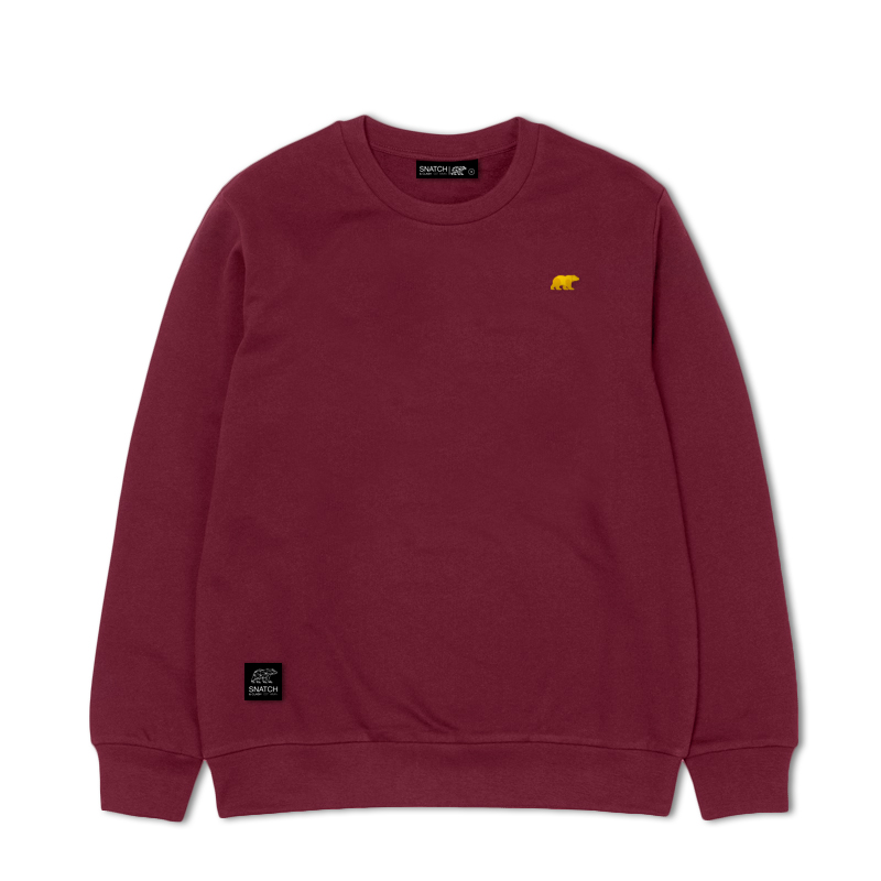 SNATCH AND CLASH POCKET BURGUNDY