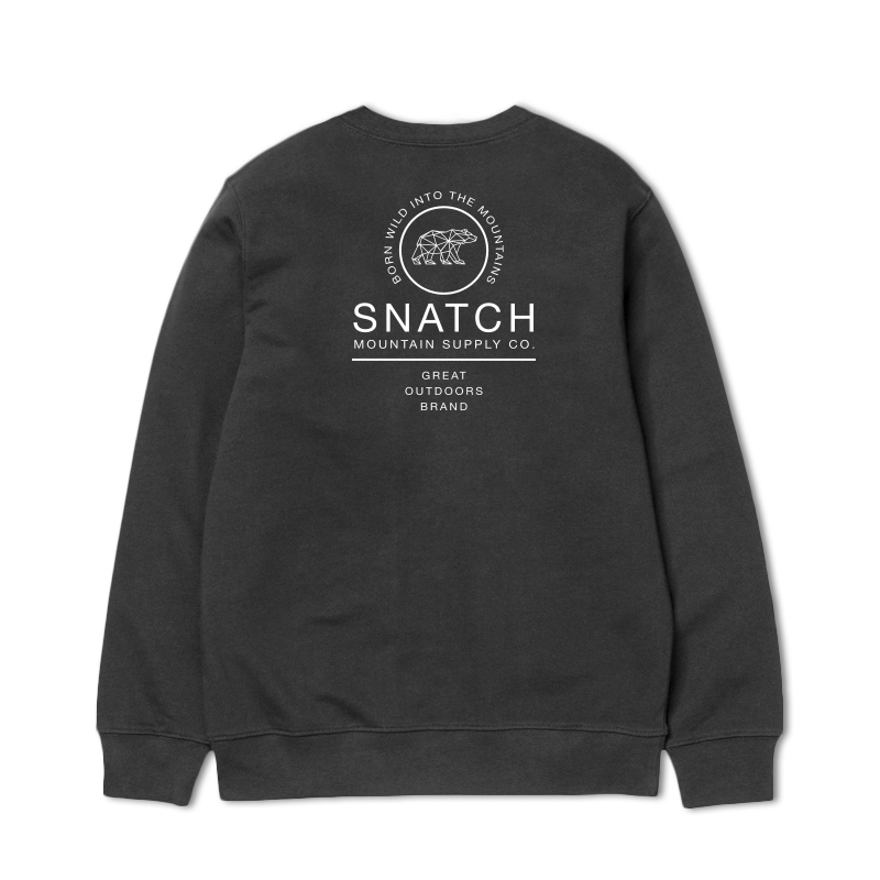 Sudadera SNATCH AND CLASH GREAT OUTDOORS CREW CHARCOAL para hombre en color gris-a