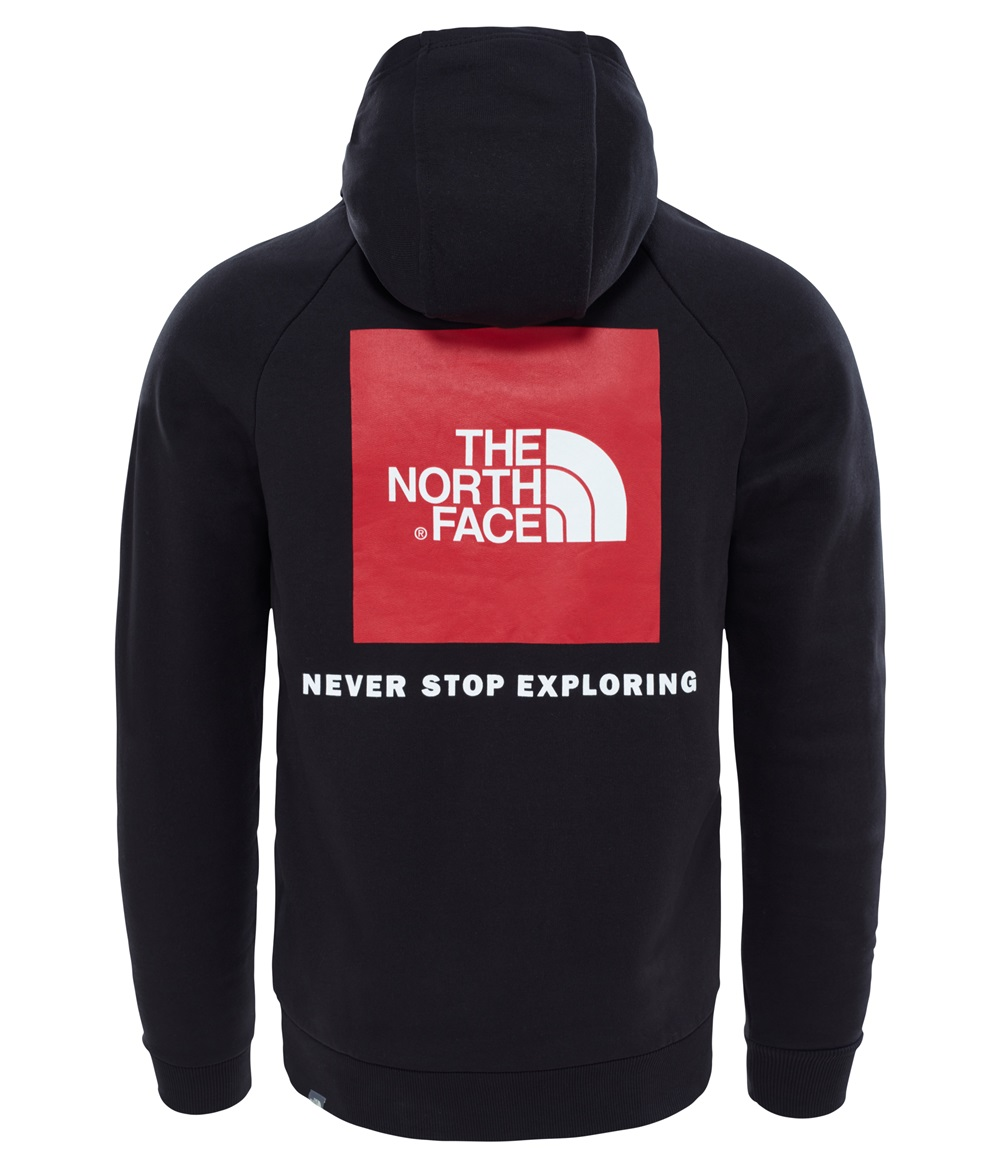 Sudadera the North face RAGLAN RED BOX para hombre en color negro-a