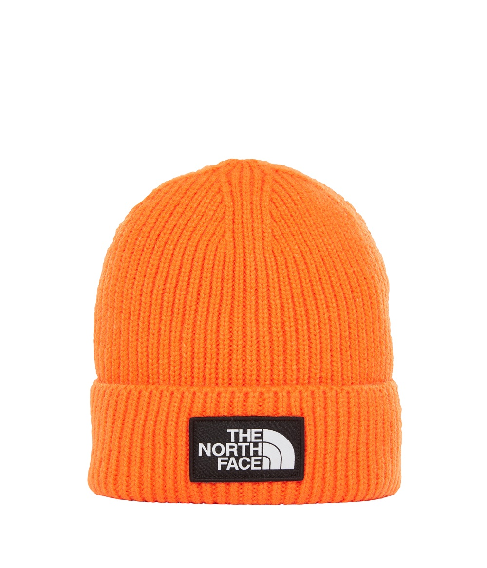 Gorro The North Face TNF LOGO BOX CUFF en color naranja-a