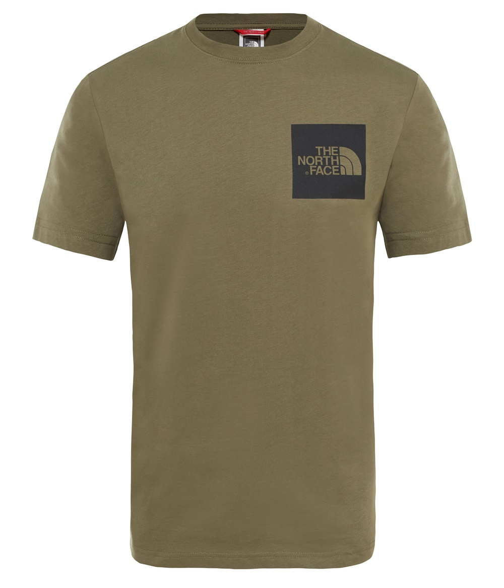 THE NORTH FACE M S/S FINE TEE TAUPE GREEN