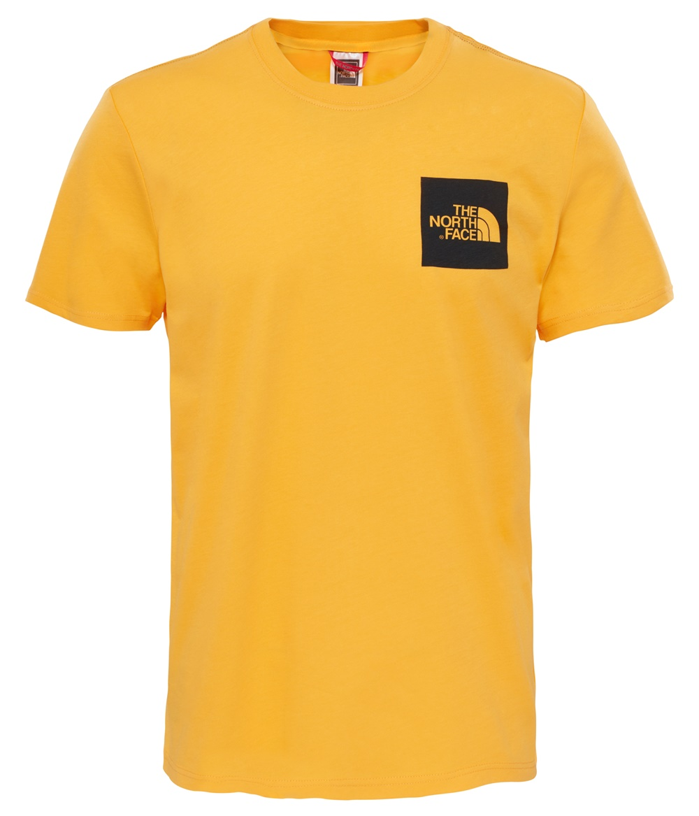 THE NORTH FACE M S/S FINE TEE ZINNIA ORANGE