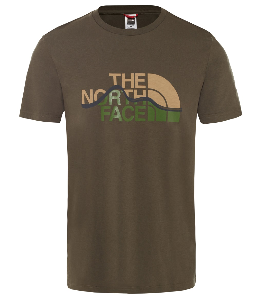 THE NORTH FACE M S/S MOUNT LINE TEE TAUPE GREEN