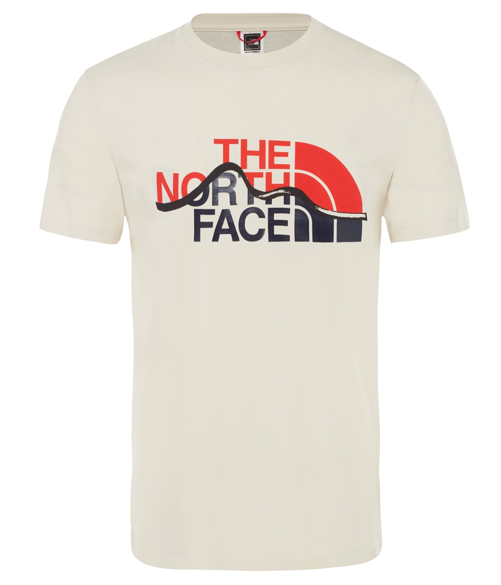 THE NORTH FACE M S/S MOUNT LINE TEE VINTAGE WHITE