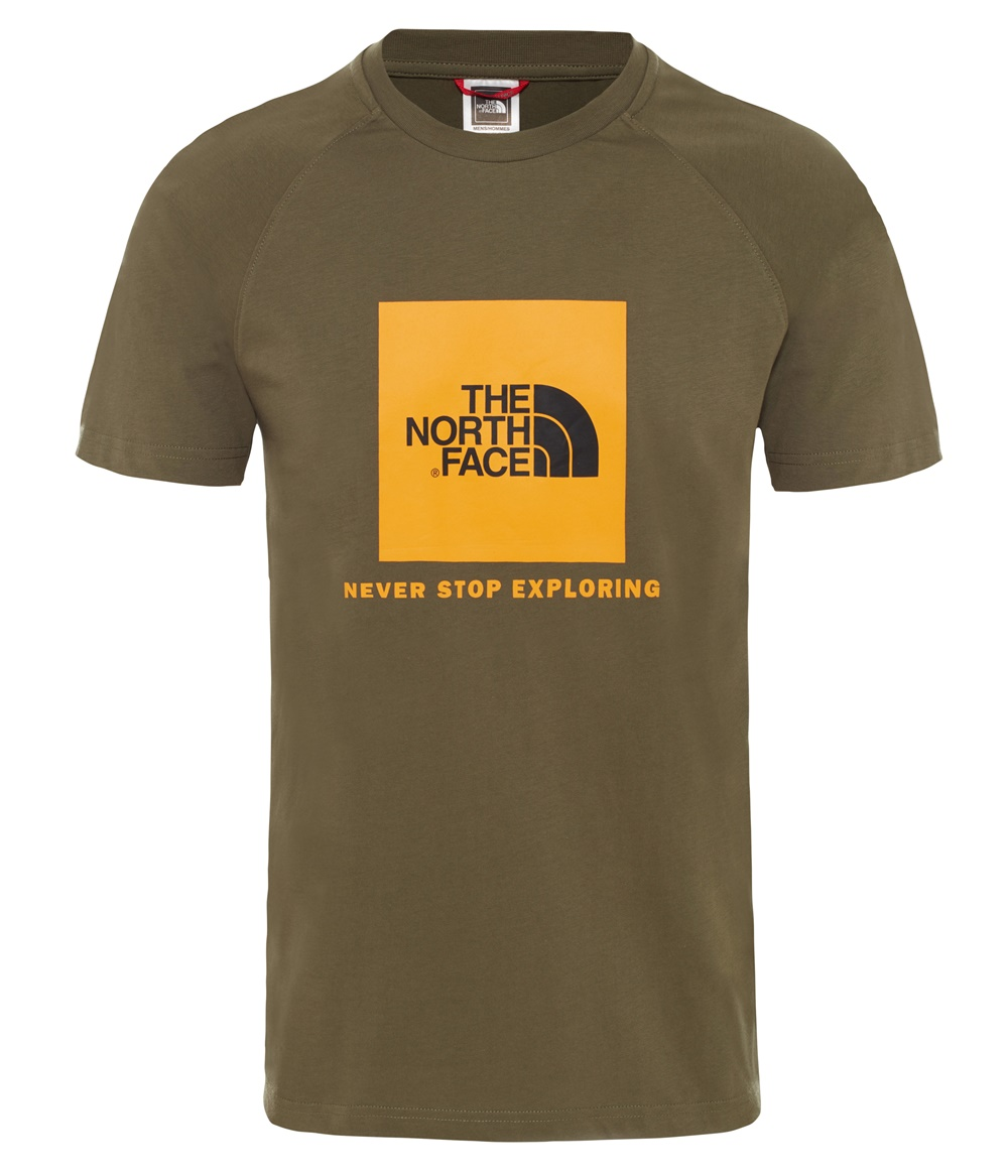 THE NORTH FACE M S/S RAG RED BOX TE NEW TAUPE GREEN