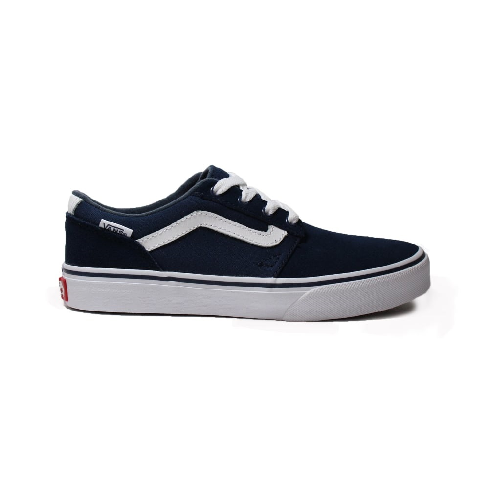 VANS YT CHAPMAN STRIPE (SUEDE/CANVAS) DRESS BLUES/WHITE
