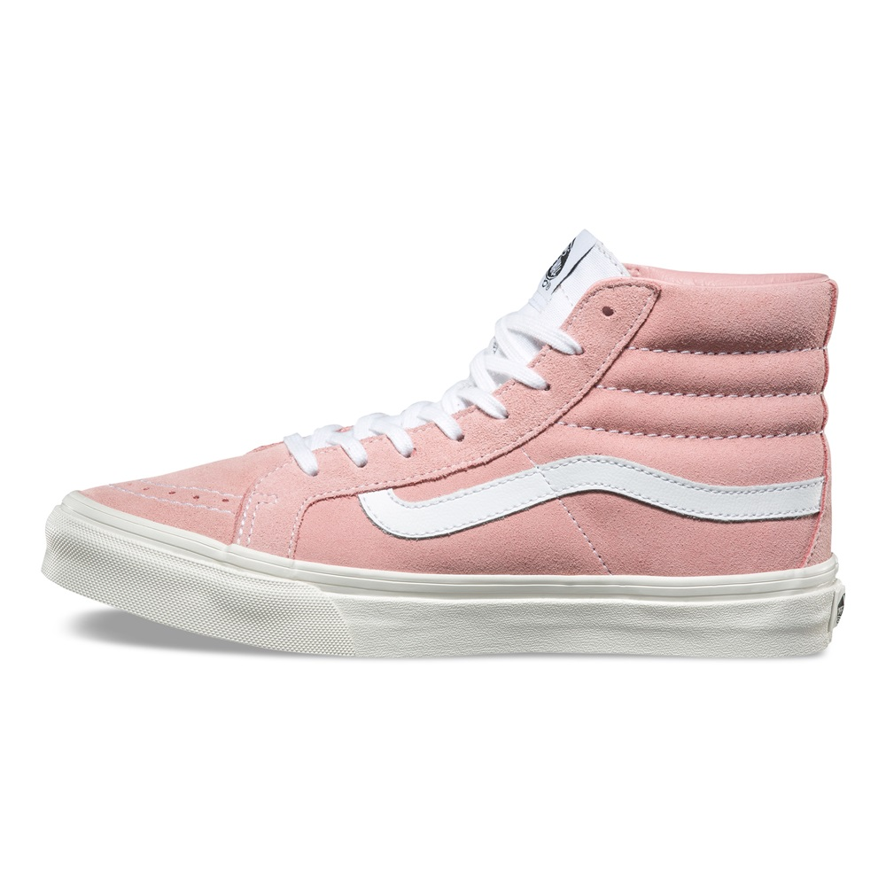 zapatillas vans retro rosas