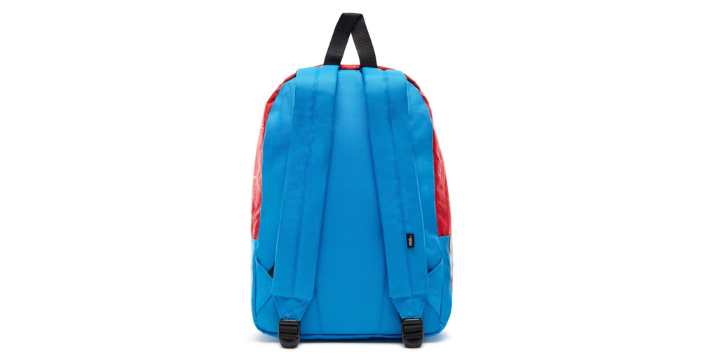 Mochila Vans x Marvel modelo New Skool Backpack Spiderman en color azul