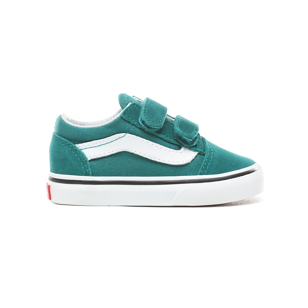 Zapatillas Vans modelo Old Skool V en color verde para baby