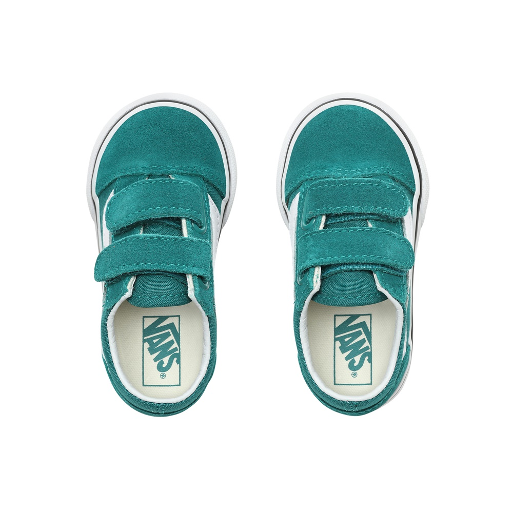 Zapatillas Vans modelo Old Skool V en color verde para baby-f