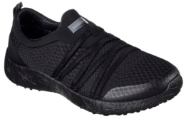SKECHERS - BURST-VERY DARING Black Brushed Textile / Hot Melt
