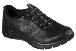 SKECHERS - EMPIRE-LATEST NEWS BLACK MICROLEATHER / TRIM