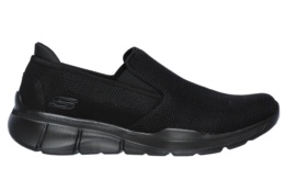 SKECHERS - EQUALIZER 3.0- SUMNIN BLACK MESH/PU/TRIM