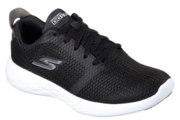 SKECHERS - GO RUN 600 - REFINE BLACK TEXTILE /WHITE TRIM