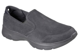 SKECHERS - GO WALK 4 - DELIVER CHARCOAL SUEDE/ TRIM