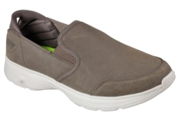 SKECHERS - GO WALK 4 - DELIVER TAUPE SUEDE/ TRIM