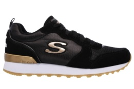 SKECHERS - RETROS-OG 85-GOLDN GURL BLACK SUEDE/ NYLON/ MESH/ ROSE GOLD TRIM