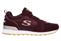 SKECHERS - RETROS-OG 85-GOLDN GURL BURGUNDY SUEDE/ NYLON/ MESH/ ROSE GOLD TRIM