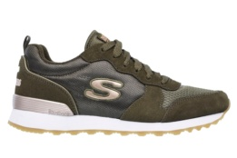 SKECHERS - RETROS-OG 85-GOLDN GURL OLIVE SUEDE/ NYLON/ MESH/ ROSE GOLD TRIM