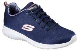 SKECHERS - ULTRA FLEX - FIRST CHOICE Navy Mesh / White Trim