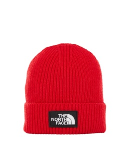 THE NORTH FACE TNF LOGO BOX CUFF BE TNF RED TNF RED