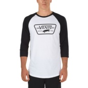 VANS M FULL PATCH RAGLAN BLANCO/NEGRO