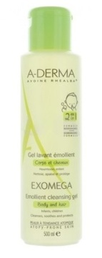 A-derma Exomega Gel Lavante 2 en 1 500ml