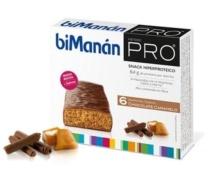 BIMANAN PRO BARRITAS CHOCO-CARAMELO 6 UNIDADES