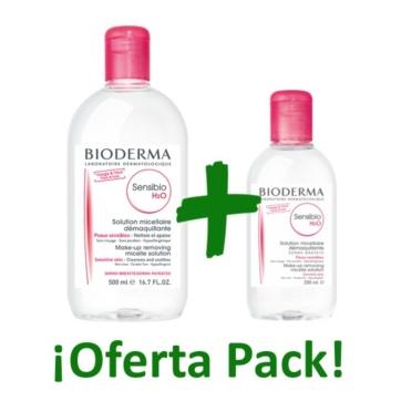 Comprar el pack sensibio h20 agua micelar de bioderma al mejor precio, compra en nuestra tienda online el pack bioderma sensibio agua micelar economico