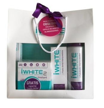 Iwhite instant 2 moldes blanqueadores dental pack bolsa promocion