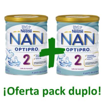 Nestle Nan 2 Optipro Leche infantil oferta duplo pack
