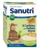 SANUTRI 8 CEREALES CON GALLETAS MARIA 600GR