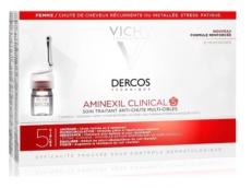 Dercos Aminexil Clinical 5 Mujer 21 Ampollas Monodosis Caida Cabello