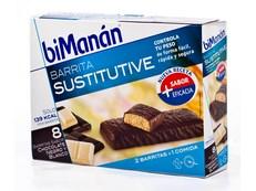 BIMANAN BARRITA CHOCOLATE Y BLANCO 8 UNIDADES