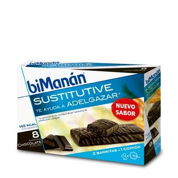 BIMANÁN BARRITAS CHOCOLATE INTENSO 8 UNIDADES