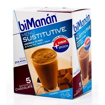 BIMANÁN BATIDOS CHOCOLATE 5+1 SOBRES