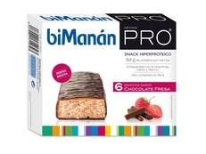 BIMANAN PRO BARRITAS CHOCOLATE-FRESA 6 UNIDADES