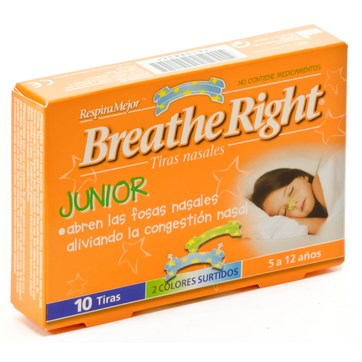 BREATHE RIGHT NIÑOS 10 UNIDADES
