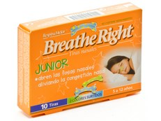 BREATHE RIGHT NIÑOS 10 TIRAS NASALES