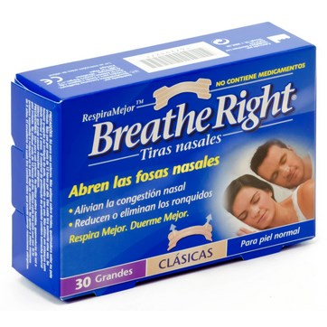 BREATHE RIGHT TALLA GRANDE 30 UNIDADES