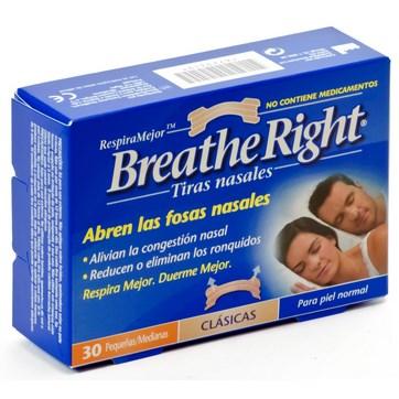 BREATHE RIGHT TALLA PEQUEÑO-MEDIANO 30 UNIDADES
