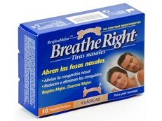 BREATHE RIGHT PEQUEÑAS 30 TIRAS NASALES