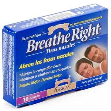 BREATHE RIGHT TIRAS NASAL 10 GRANDES