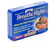 BREATHE RIGHT GRANDE 10 TIRAS NASALES