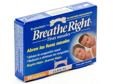 BREATHE RIGHT PEQUEÑA 10 TIRAS NASALES