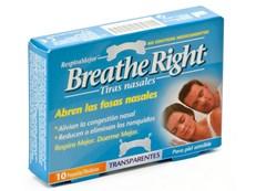 BREATHE RIGHT 10 TIRAS PEQUEÑAS TRANSPARENTES