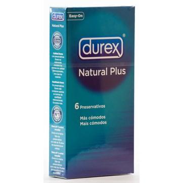 DUREX NATURAL PLUS PRESERVATIVOS 6 UNIDADES
