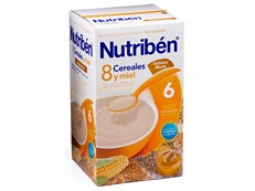 NUTRIBEN 8 CEREALES MIEL GALLETAS 600GR
